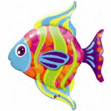 Fashionable Fish Large Foil Balloon 1pc